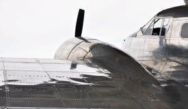 Het oude vliegtuig van de propelleroorlog Royalty-vrije Stock Foto's