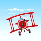 Het oude vliegtuig van het beeldverhaal Stock Foto's