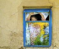 Het oude vrouwen wachten Royalty-vrije Stock Afbeelding