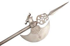 Het oude wapen - een hellebaard Royalty-vrije Stock Foto's