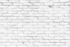 Het oude witte Ontwerp van de bakstenen muurtextuur Lege witte baksteenachtergrond voor Presentaties en Webontwerp Heel wat Ruimt Stock Fotografie