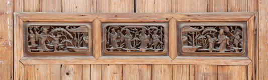 Het oude woodcarving Stock Fotografie