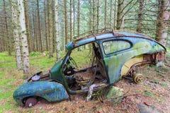 Het oude Wrak van de Auto Royalty-vrije Stock Afbeelding