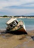 Het oude Wrak van de Boot stock foto