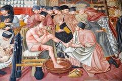 Het oude ziekenhuis van Santa Maria della Scala, Siena, Italië stock afbeeldingen