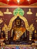 Het oude zwarte standbeeld van Boedha Royalty-vrije Stock Fotografie