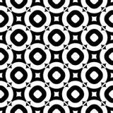 Het oude zwarte & witte naadloze patroon van de stijlmanier Stock Afbeelding