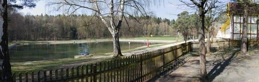 Het oude zwembad riep Dachova in Horice Royalty-vrije Stock Foto's