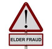 Het oudere Teken van de Fraudevoorzichtigheid vector illustratie