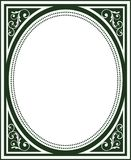 Het ouderwetse Frame van de Dekking van het Boek Stock Afbeelding