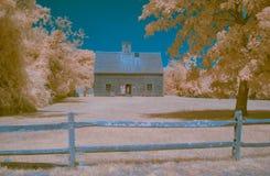 Het oudste huis van infrarode landschapsnantucket Stock Afbeeldingen