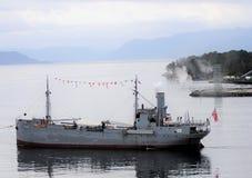 Het oudste vrachtschip van Noorwegen; het stoomschip 'Hestmanden ' stock foto