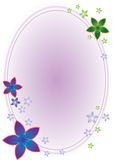 Het Ovale Frame van de bloem Stock Fotografie