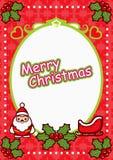 Het Ovale Frame van Kerstmis Royalty-vrije Stock Afbeelding