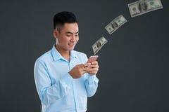 Het overbrengen van geld royalty-vrije stock foto