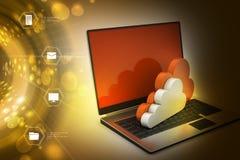 Het overbrengen van informatie naar een server van het wolkennetwerk Royalty-vrije Stock Foto's