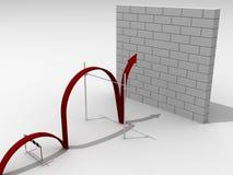 Het overbruggen van de moeilijke barrières Stock Foto's