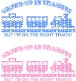 Het Overdrukplaatje van de trein Stock Fotografie