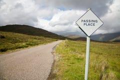 Het overgaan van plaats, Schotland stock fotografie
