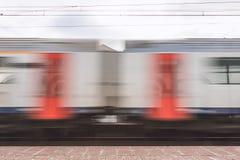Het overgaan van trein Stock Foto