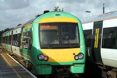 Het overgaan van treinen Royalty-vrije Stock Afbeeldingen