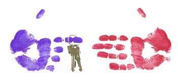 Het overhandigen van de sleutels Royalty-vrije Stock Afbeelding