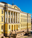 Het Overheidspaleis in Helsinki Stock Foto