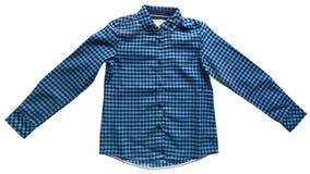 Het overhemd van de kinderenplaid Stock Foto's