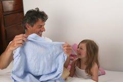 Het overhemd van de vader en van de dochter Royalty-vrije Stock Afbeeldingen