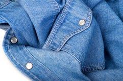 Het overhemd van jeans royalty-vrije stock foto