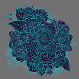 Het overladen vectorontwerp van de neon bloemenkaart Royalty-vrije Stock Foto
