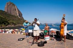 Het Overleg van de straatband in een Mooie Plaats van Rio royalty-vrije stock foto's