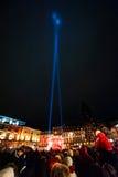 Het Overleg van het Kerstmisnieuwjaar in Straatsburg, Frankrijk Royalty-vrije Stock Foto