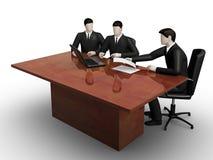 Het overleg van Thee businessmans stock illustratie