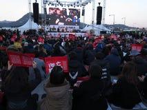 Het overleg viert de Beschuldiging van Parkgeun -geun-hye Royalty-vrije Stock Foto