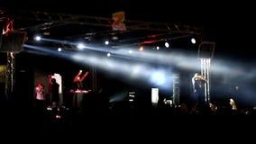 Het overleg Xzibit bij de festival z-Spelen stock videobeelden