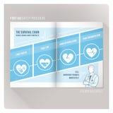 Het overlevingsketen pamflet royalty-vrije illustratie
