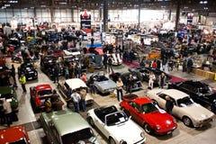 Het overvolle panorama van Klassieke Auto toont Stock Foto