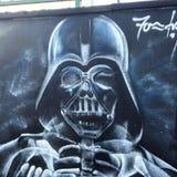 Het overweldigen de graffiti dit werk overweldigt enkel royalty-vrije stock foto