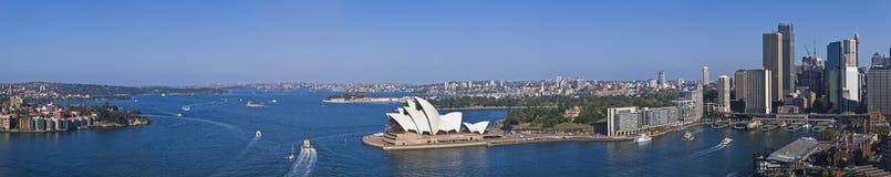 Het overweldigende Panorama XXXL van de Haven van Sydney Stock Fotografie