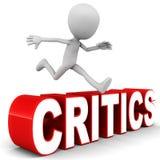 Het overwinnen van critici Stock Foto