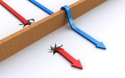 Het overwinnen van de hindernissen vector illustratie