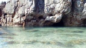 Het overzees beachs, Toro, schommelt getijden en holen, Llanes Spanje Asturias, Playa Toro Consejo DE Llanes Asturias stock afbeeldingen