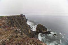 Het Overzees Cliff California van het Anacapaeiland Stock Fotografie