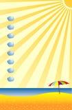Het overzees, de zon, strand Royalty-vrije Stock Afbeeldingen
