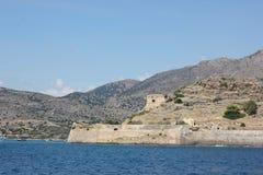 Het overzees en de onderstellen van reisgriekenland Kreta stock afbeeldingen