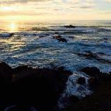 Het overzees en de zon Stock Afbeelding