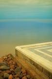 Het overzees en het marmer Stock Foto