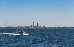 Het Overzees Finland van de Archipel van de Utönvuurtoren royalty-vrije stock afbeelding