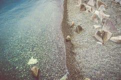 Het overzees heeft twee kanten, zoals een muntstuk stock foto's